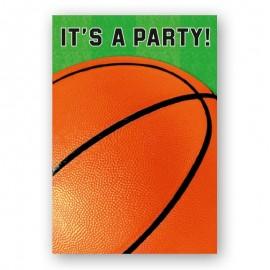 8 Invitaciones Basket
