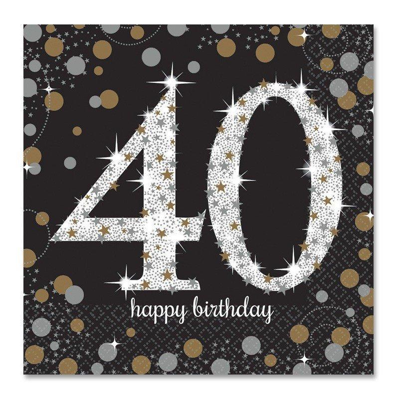 Servilletas 40 a os elegant 33 cm - Photocall cumpleanos 18 anos ...