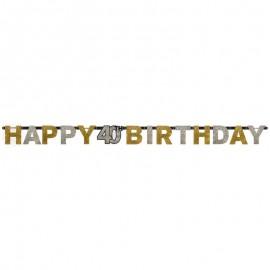 Pancarta 40 Elegant Happy Birthday
