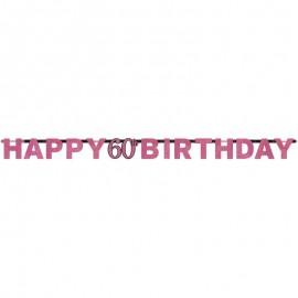 Guirnalda cumpleaños Elegant Pink 60 años