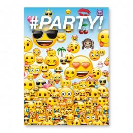 8 Invitaciones con Emoticonos
