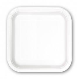8 Platos de Papel Cuadrados 23 cm