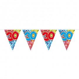 Banderines 30 con Cuadros de Colores
