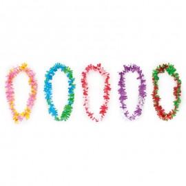 Collar Multicolor Hawaiano de Plástico 90 x 7 cm