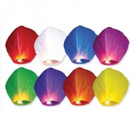 10 Farolillos Voladores Varios Colores