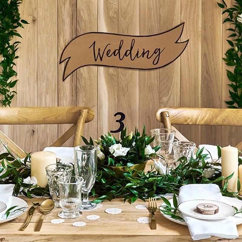carteles para bodas kraft