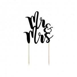Topper para Tartas Mr y Mrs