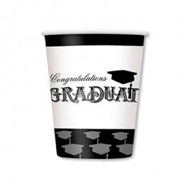 8 Vasos de Graduación 266 ml