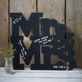 Letras para Bodas de Pizarra Mr & Mrs