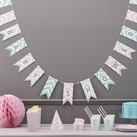 Banderín Baby Shower Chevron