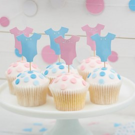 12 Toppers para Cupcake Baby Shower