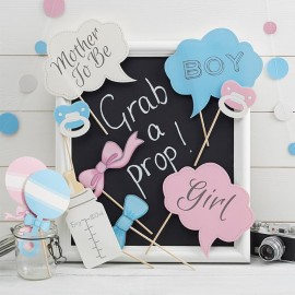 10 Accesorios para Photocall Baby Shower