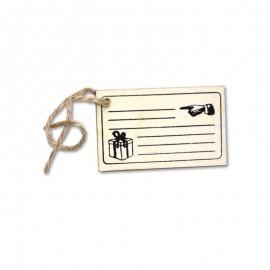 Etiqueta con Cuerda Arpillera