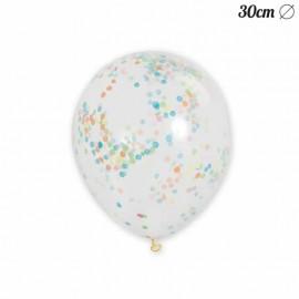 6 Globos de Confeti 30 cm