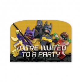 6 Invitaciones Lego Batman