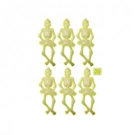 6 Esqueletos Brillantes Luminosos