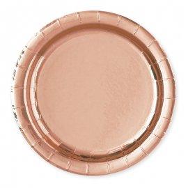8 Platos Rosa Gold 23 cm