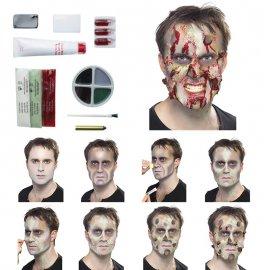 Kit de Zombie de Látex con Sangre