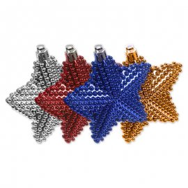 3 Estrellas Perlas 8 cm