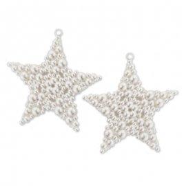 2 Estrellas Perla 9 cm