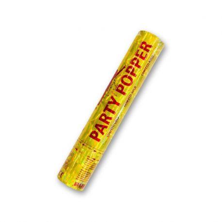 Cañón de Confeti Dorado 28 cm