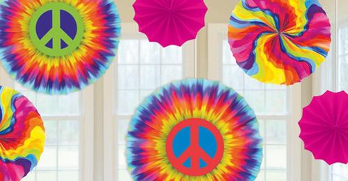 10 vasos de fiesta hippie Boho fiestachicle amarillo Love /& Peace decoración de cumpleaños