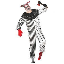 Disfraz de Pierrot para Hombre Payaso Terrorífico