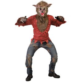 Disfraz de Lobo para Hombre Camisa con Pelo
