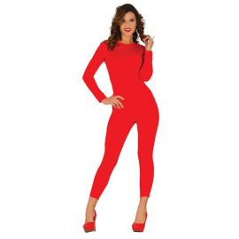 Disfraz con Maillot para Mujer Rojo
