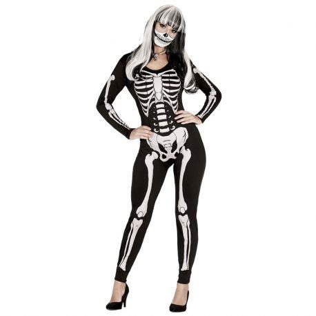 Disfraz de Esqueleto para Mujer Ceñido