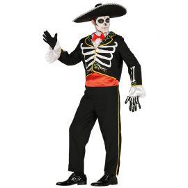 Disfraz de Mariachi para Hombre Esqueleto