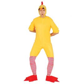 Disfraz de Pollito para Adulto con Calcetines