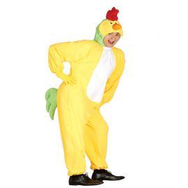 Disfraz de Gallo para Adulto Mono Suave