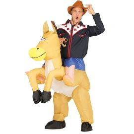Disfraz de Cowboy para Adulto Caballo Hinchable