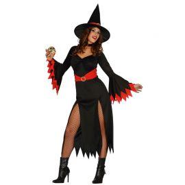 Disfraz de Red Witch para Mujer Rojo y Negro