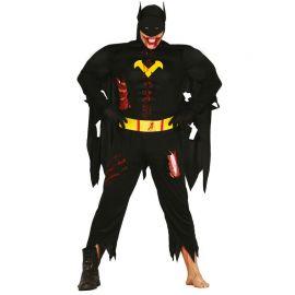 Disfraz de Black Hero Zombie con Capa