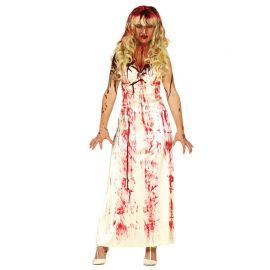 Disfraz de Estudiante Sangrienta para Mujer Vestido Largo