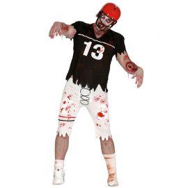 Disfraz de Quarterback Zombie para Hombre con Hombreras
