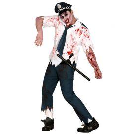 Disfraz de Zombie Cop para Hombre con Gorro