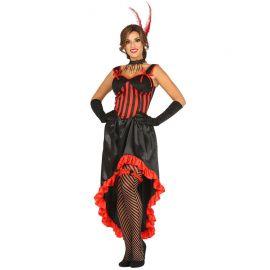 Disfraz de Can Can para Mujer Negro y Rojo