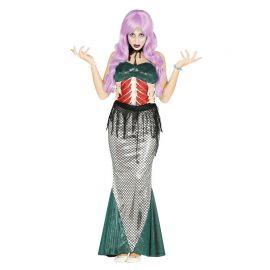 Disfraz de Sirena Zombie con Choker para Mujer