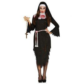 Disfraz de Monja Zombie para Mujer con Cofia de Monja