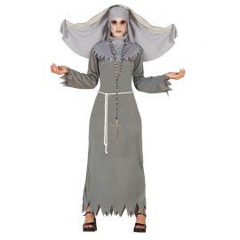Disfraz de Monja Diabólica para Mujer con Tocado