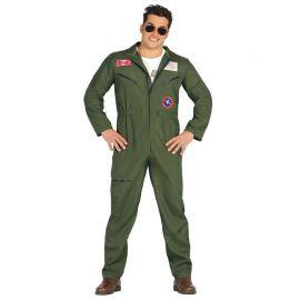 Disfraz de Piloto de Caza para Hombre con Mono