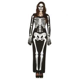 Disfraz de Lady Skeleton para Mujer Vestido Largo