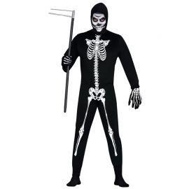 Disfraz de Esqueleto para Hombre con Capucha