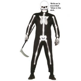Disfraz de Skeleton Glow in the Dark para Hombre con Máscara
