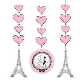3 Colgantes Paris 91 cm