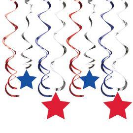 8 Colgantes Estrellas America