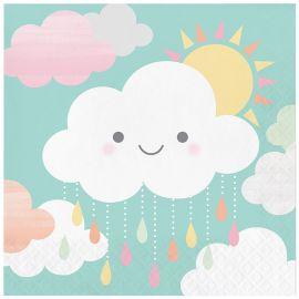 16 Servilletas Nubes 33 cm